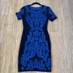 Cynthia Steffe Blue & Black Short Tight Dress